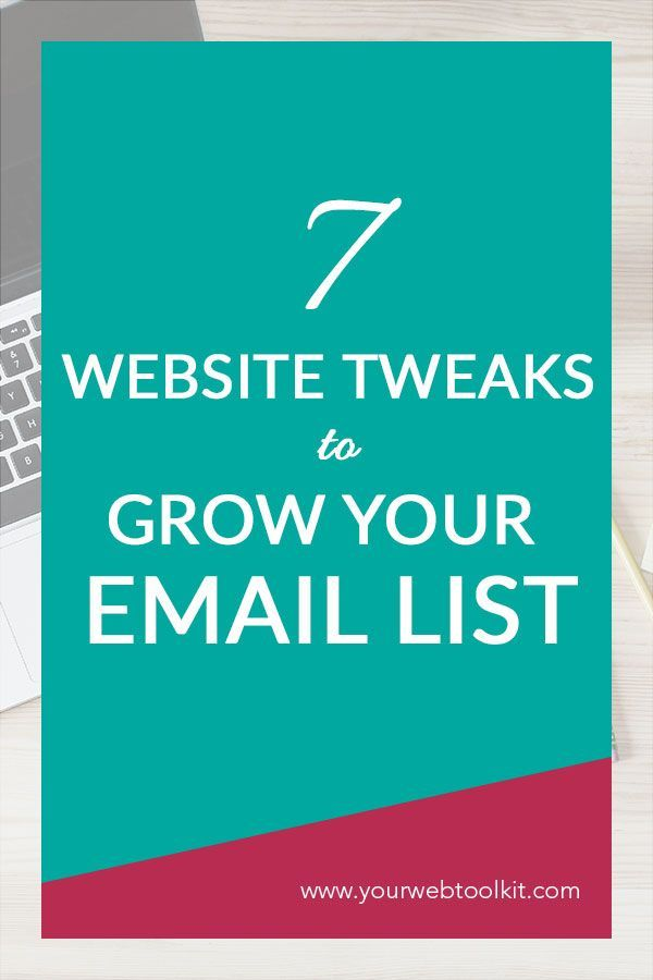 These seven simple tweaks to your website might mean the difference between tumbleweeds on your email list, or a growing tribe of people who GET you and your business. It's not hard to grow your email list, it's just about knowing how to set things up.  via @yourwebtoolkit