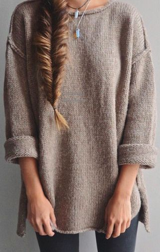 fishtail braid & oversized sweaters