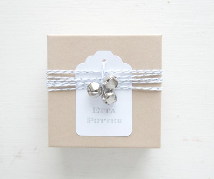 silver bells gift tag