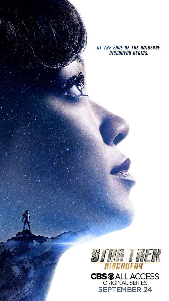 Na San Diego Comic-Con 2017, foi divulgado um novo cartaz da série Star Trek: Discovery, destacando a protagonista Michael Burnham (Sonequa Martin-Green):