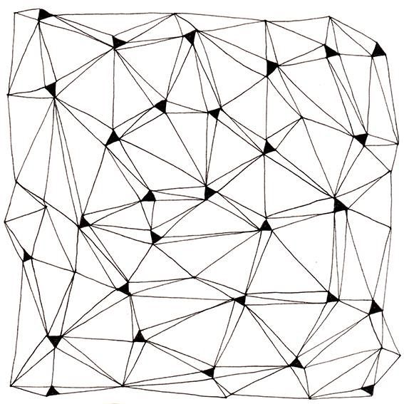pattern by krisztiballa #pattern #krisztiballa #patterndesign #triangle #mesh #bw