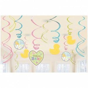 Köp Girlanger Baby Ankor Pastell hos Partytajm