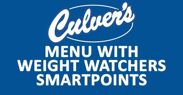 culver s menu with weight watchers smartpoints ww smart. Black Bedroom Furniture Sets. Home Design Ideas