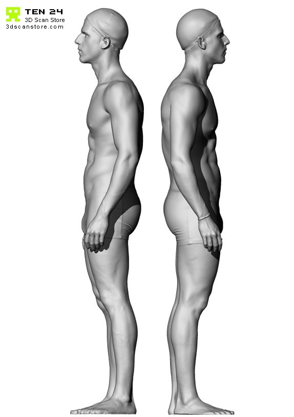 Buy and Sell 3D Scans Male 06 Full Body Scan Semi Naked Arms Down