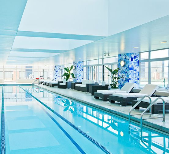 Nyc Apartment With Pool River Place Is Home To One Of The Largest Indoor Swimming Pools Of Any