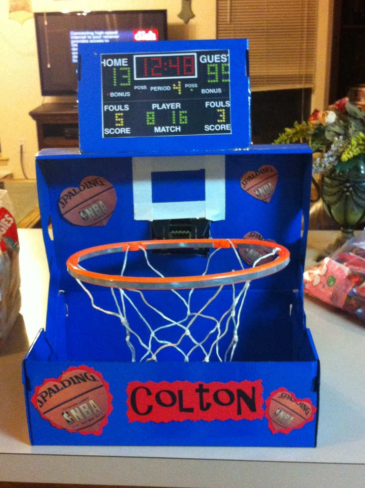 Crazy about basketball!! Valentines box!!!