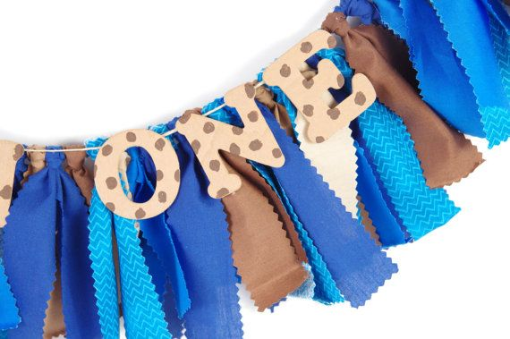 Cookie Monster Birthday Decor First by DuryeaPlaceDesigns on Etsy