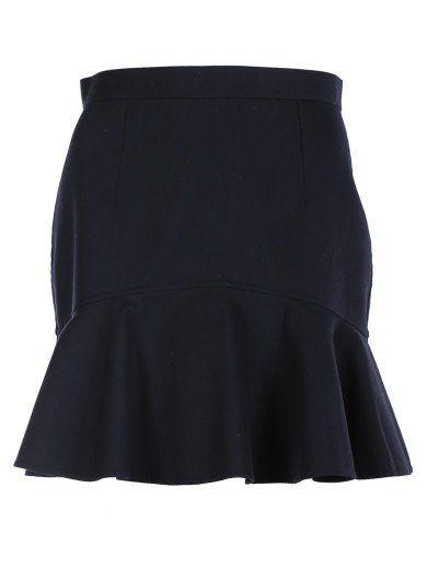 dsquared2 peplum skirt dsquared2 navy blue cotton high
