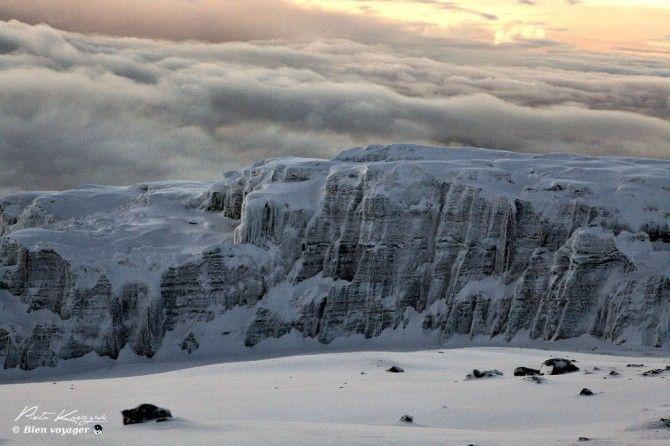 Kilimandjaro ascension glacier