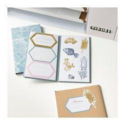 IKEA - EKLOG, Folder med klistermærker, Klistermærker, du kan bruge til at pynte dine gaver med.