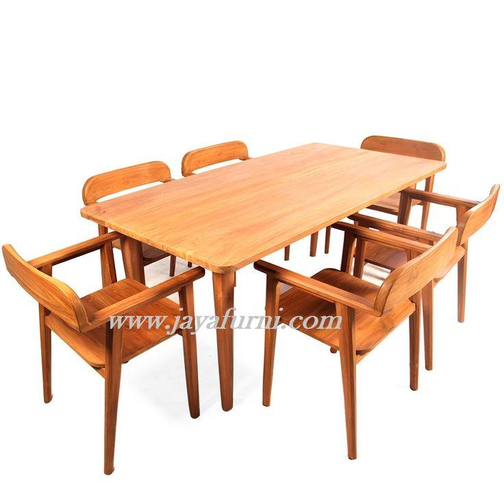 Meja Makan Jati Set Kursi 6 Meja Makan Jati Set Kursi 6 Kode : MMS-074 Bahan : Full Kayu Jati ukuran : Meja panjang 140cm x Lebar 80cm x tinggi 80cm (Tersed