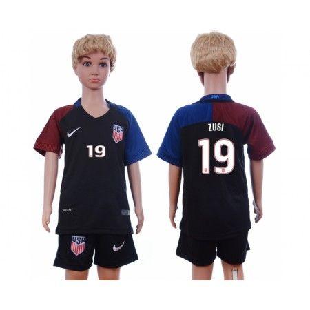 USA Trøje Børn 2016 #Zusi 19 Udebanetrøje Kort ærmer.199,62KR.shirtshopservice@gmail.com