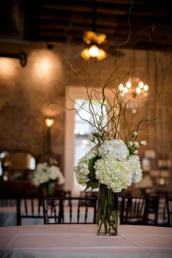 Country White Hydrangea Wedding Centerpiece / http://www.deerpearlflowers.com/rustic-wedding-details-and-ideas/