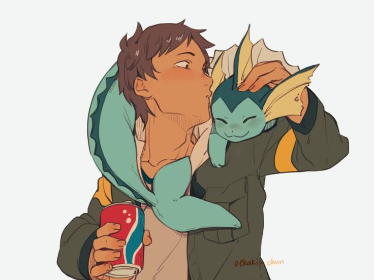Lance with a Vaporeon.