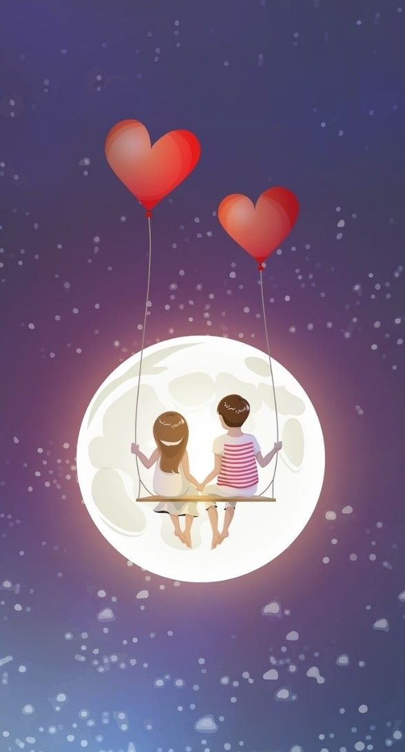 Only Us Under The Stars Cute Wallpapers Love Cartoon Couple
