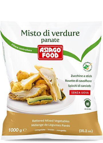 Misto di verdure panate 1000g - Asiago Food