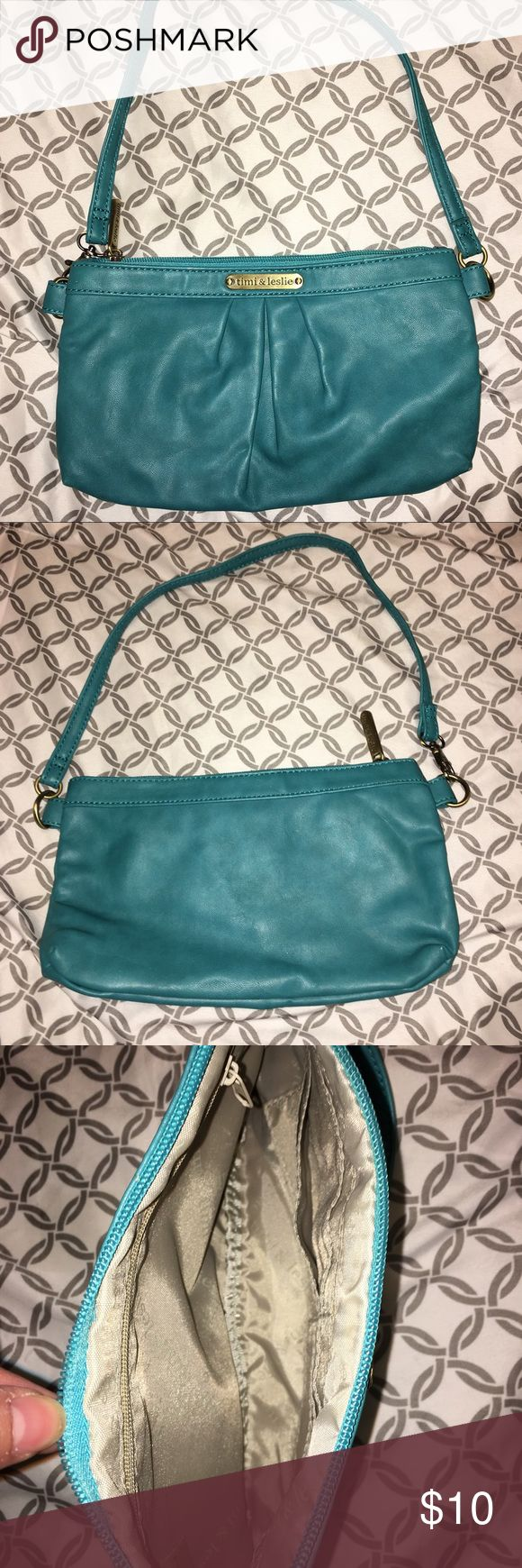 Timi & Leslie blue wristlet from diaper bag Gently used condition timi & leslie Bags Clutches & Wristlets