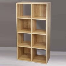 8 Cube Storage Unit Wood Look