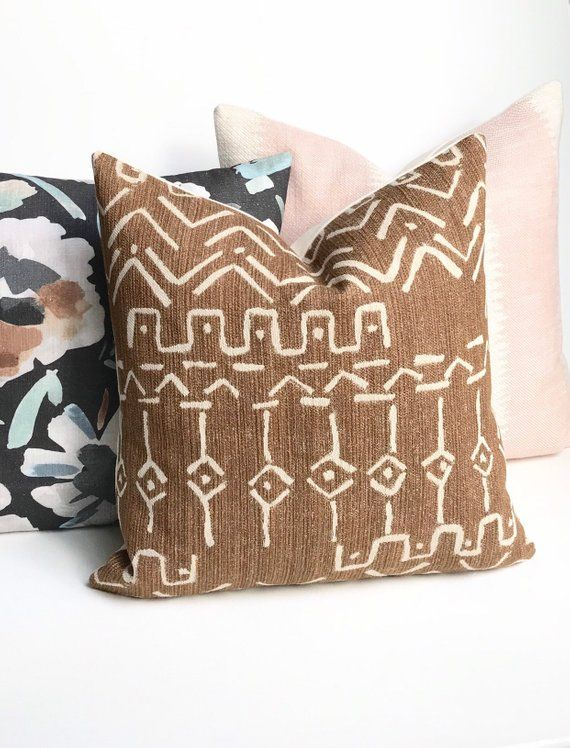 Brown Pillow Cover Chenille Pillow Boho