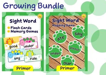 This is a growing bundle of Primer sight words, Dino Theme. This bundle only has 2 activities at the moment. But many more fun activities will be added to this bundle very soon. Because I'll raise the price along with the new activities added, it's an advantage to purchase this bundle now, while the price still low, and you can download the new additions later, for free.