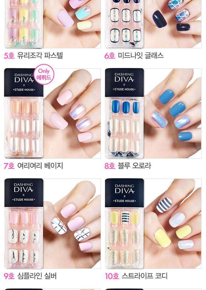 Etude House Dashing Diva Magic Press 20 Types Transform Your Diva Nails Nails Salon Gift Card
