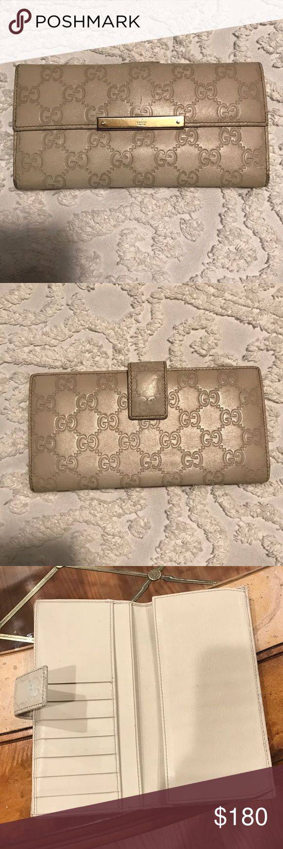 Authentic Gucci wallet!  Cream Gucci wallet. Great price Gucci Bags Wallets