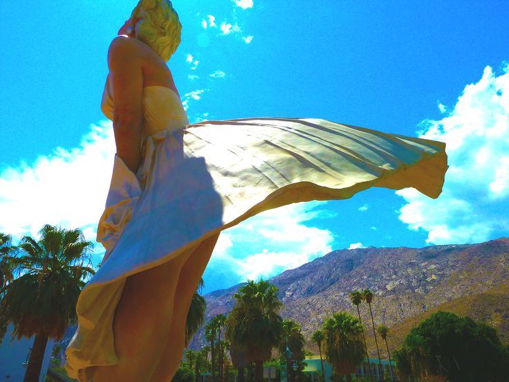 Marilyn Sculpture in Palm Springs in 2012