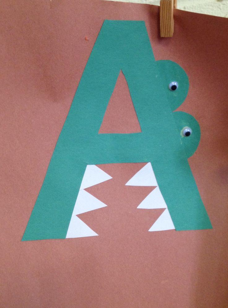 Preschool letter a craft preschool letter crafts for Letter k crafts for toddlers