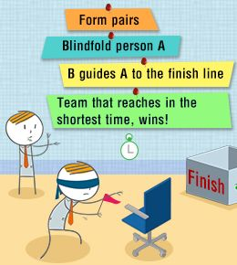 Communication Games for Team Building