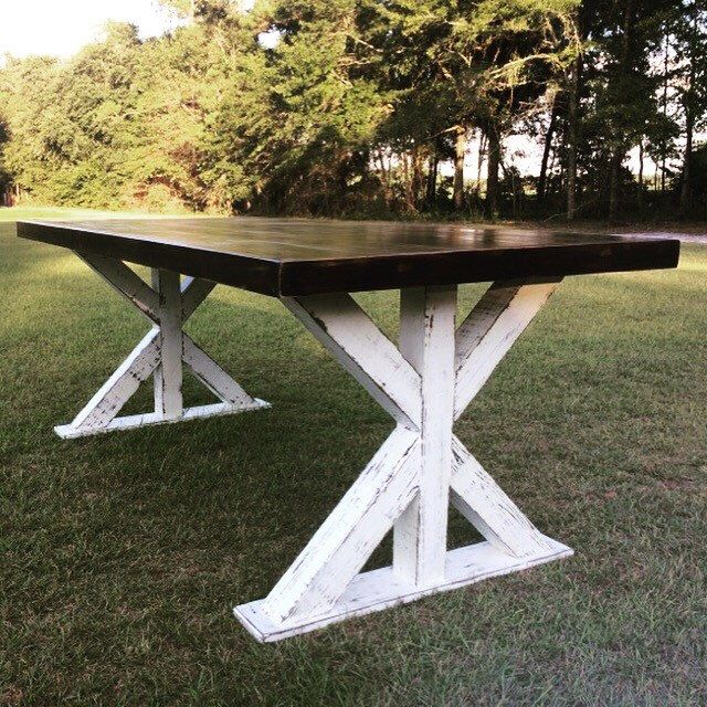 A personal favorite from my Etsy shop https://www.etsy.com/listing/469252109/farm-style-table-farmhouse-table-with