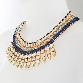 This stunning coloured statement necklace is from Irish company Newbridge Silverwares new eShe Collection