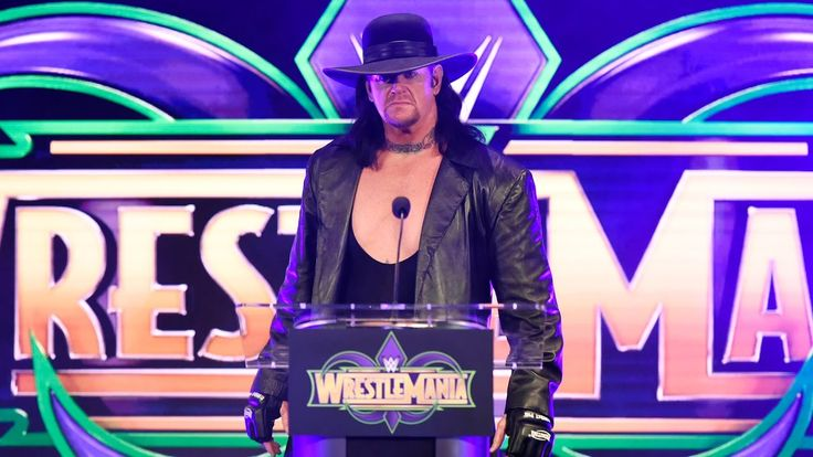 The Undertaker makes a chilling interruption at the WrestleMania 34 pres...