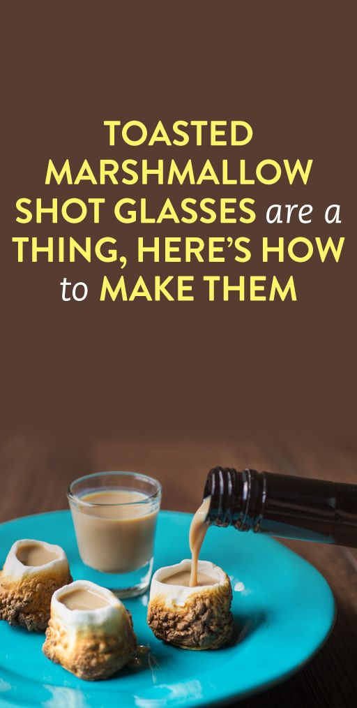 how to make toasted marshmallow shot glasses