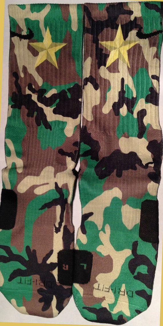 Military Camouflage Camo Custom Nike Elite by DopeSocksAndStuff, $29.99