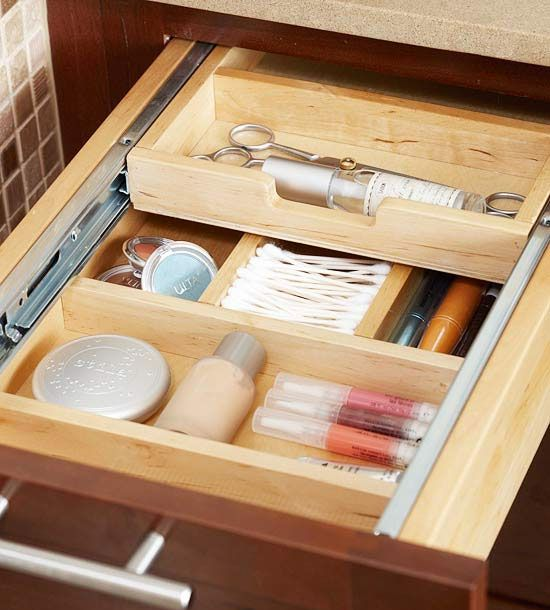 Master Bathroom Organization Vanities Drawers