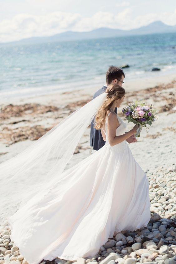 Rustic Scottish Seaside Summer Wedding