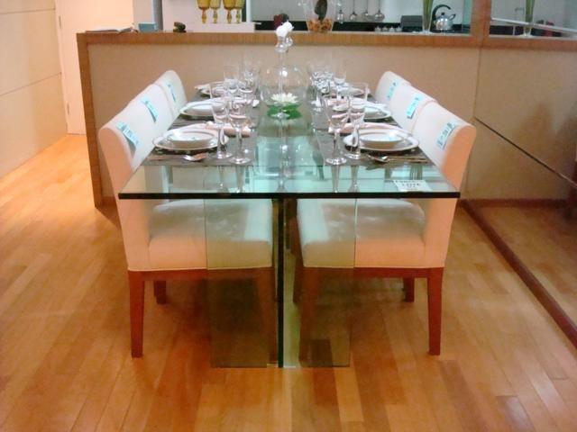 mesa de jantar de vidro 4 lugares 5