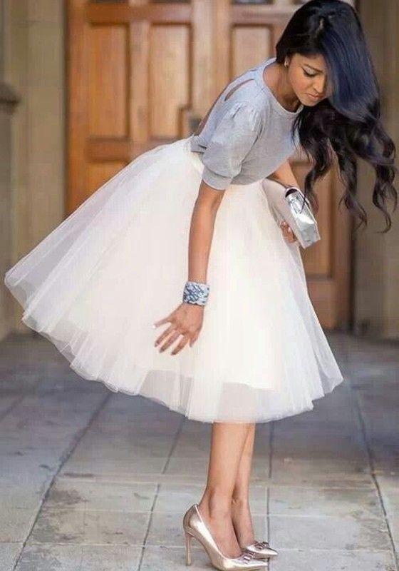 Falda llanura granadina envuelta nueva moda últimas mujeres hinchados tul alta tutú adorable talle blanco