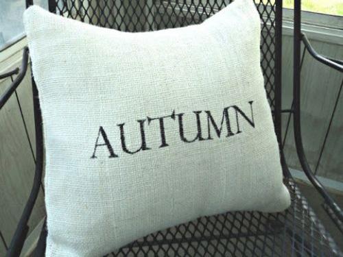 Burlap Autumn Pillow