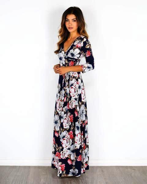 5e54a68ce78 Maxi Dress Ivory Little Mistress Bandeau Maxi Dress In Floral Print ...
