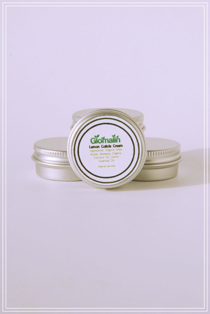 Glomalin Lemon Cuticle Cream made from certified organic ingredients, shop at www.glomalin.ca