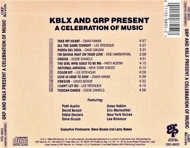 """FREE U.S. Shipping! CD From 1989! KBLX/GRP """"Quiet Storm, Soft And Warm"""" 102.9 FM"""