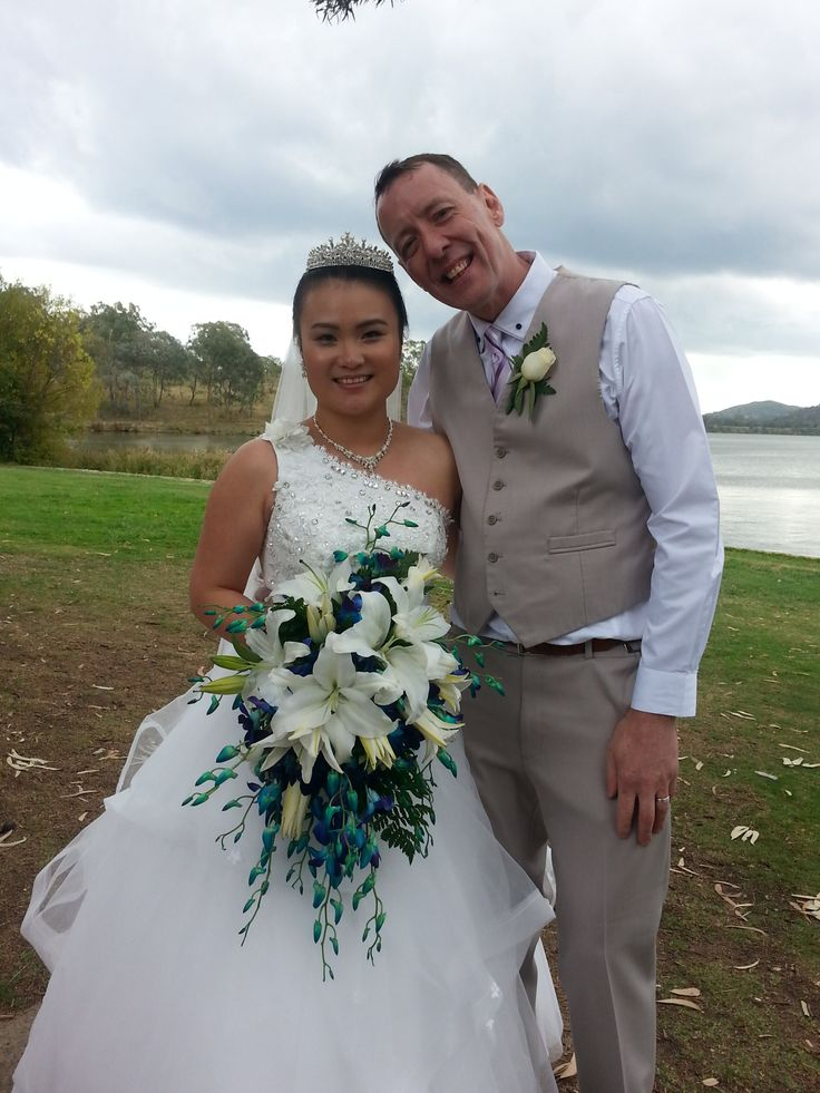 Celia and Pete married at the Canberra Southern Cross Club Yacht Club in Yarralumla ACT in March