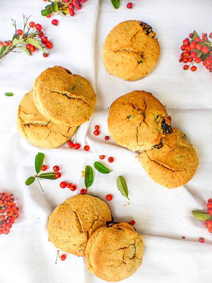 Scones Vegan & Sans Gluten aux Cranberries