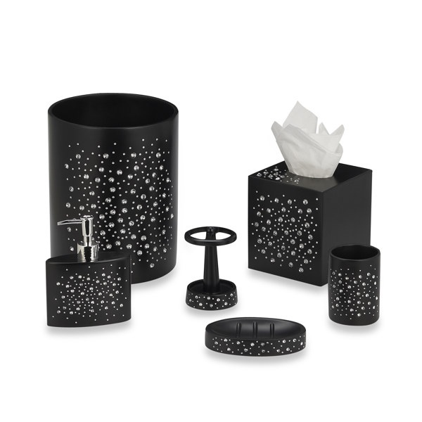 Soap Dish Will Add Some Sparkle To Your Decor Especially When Combined With The Other Diamond Black Bath
