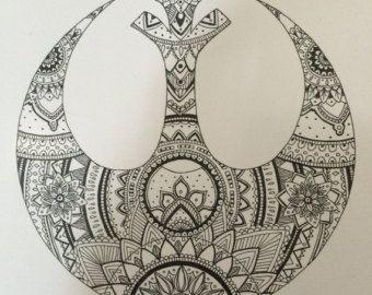 Star Wars Empire Mandala por PrettyNerdyJazz en Etsy