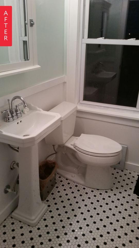 Before & After: An Almond & Orange Bathroom Leaves the 80s Behind