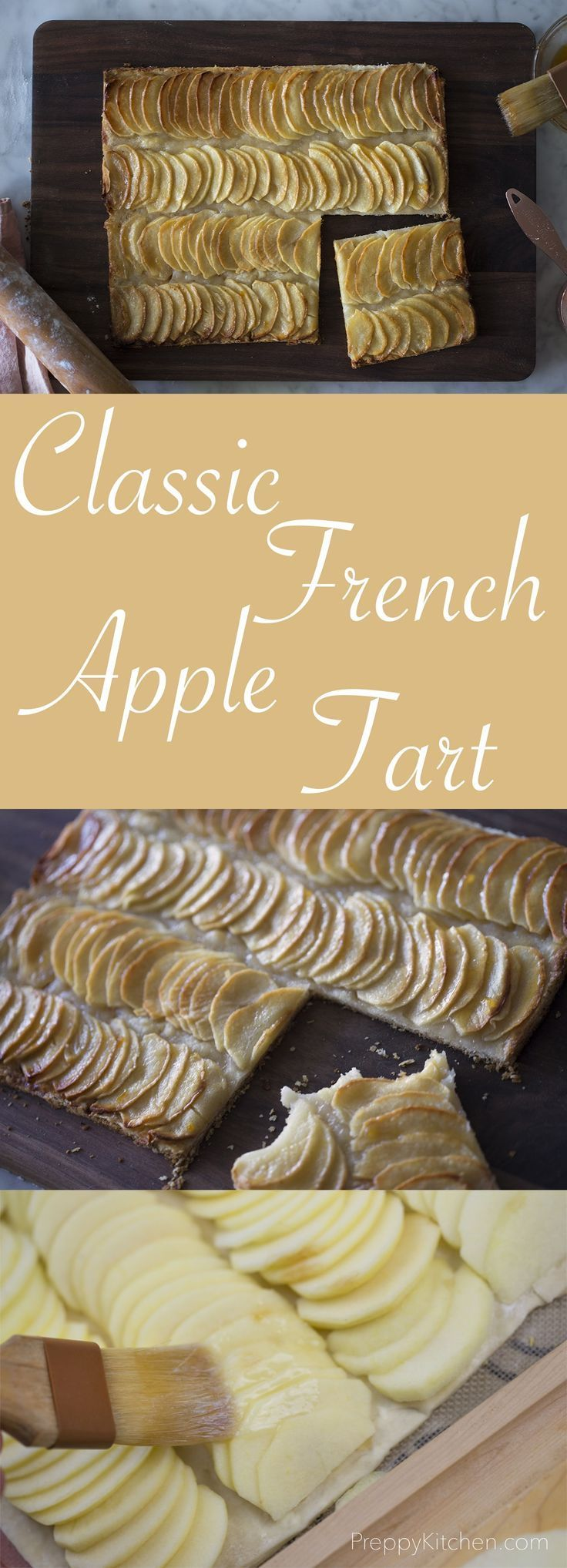 A classic french apple tart really highlights the natural flavor of fresh apples and is so easy to make. Full recipe on the blog. via /preppykitchen/