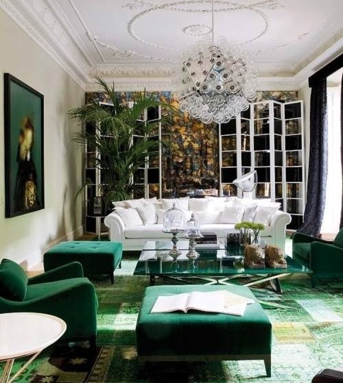 Green Carpet And Ottomans January 2013 Color Of The