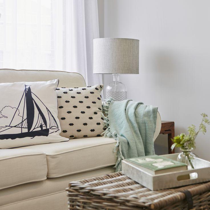#coastalliving #natural #loungeroomstyling #relax #cream #cane #mintgreen #cushions #lounge #couch #livingroom